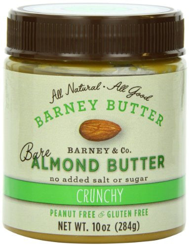 Barney Butter Bare Almond Butter, Crunchy, 10 Ounce