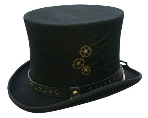 SteamPunk Top Hat - Black, Medium