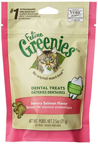 GREENIES 6-Pack Felines Greenies, Salmon, 15-Ounce