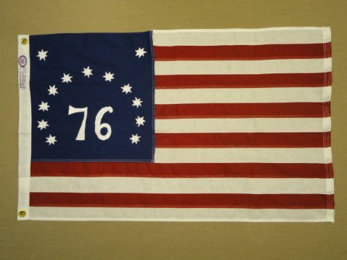 Bennington 76 Cotton Flag - 3'x5'