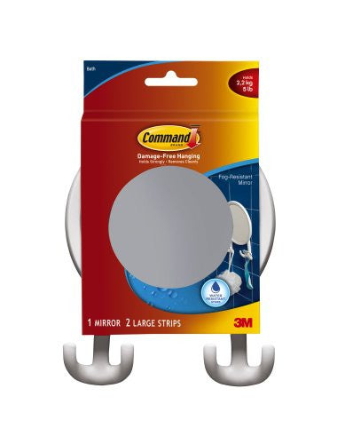 Fog-Resistant Mirror with Water-Resistant Strips  1 mirror & 2 strips/pk