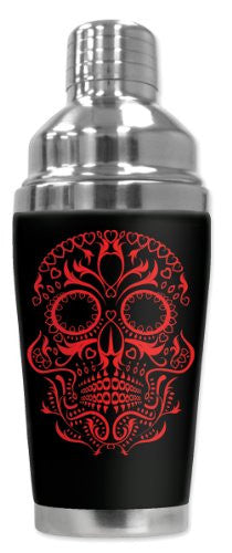 Cocktail Shaker - Red Sugar Skull