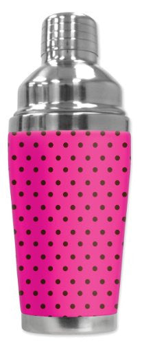 Cocktail Shaker - Pink Polka Dots