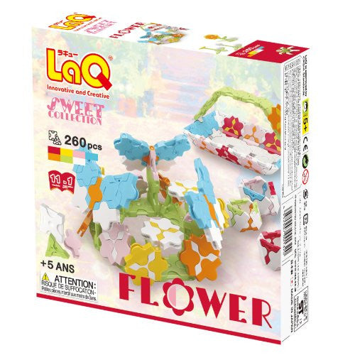 LaQ Sweet Collection Flower Model Building Kit