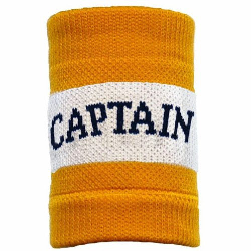Striped Captain Armband, Gold/White/Gold