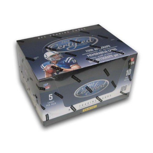2012 Panini Certified Football, 5 cards/pack, 10packs/box