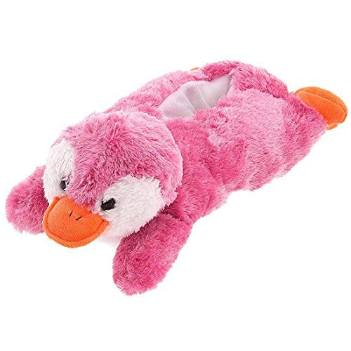 "11"" Pink Penguin Slippers"