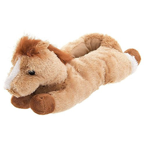 "12"" Horse Slippers, Beige"