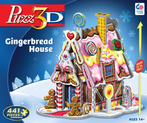 PUZZ 3D GINGERBREAD HOUSE