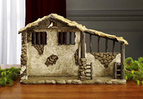 Lighted Stable for 7 Inch Nativity Set