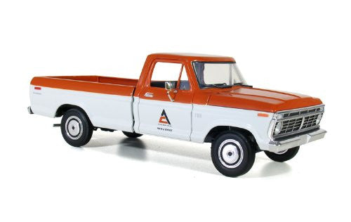 First Gear - Ford F-100 StyleSide Pickup Allis-Chalmers (1973, 1/25 scale diecast model car, Orange/ White)