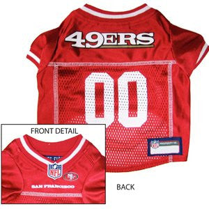 San Francisco 49ers - NFL Dog Jerseys, red w/ white trim, large