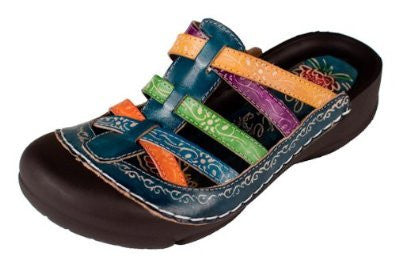 Corkys Women's Rock Sandals Blue,7 B(M) US,Multi