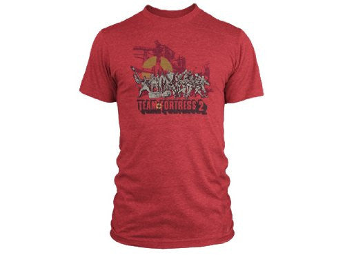 Team Fortress 2 Logo Premium Tee- Heather Red, Small