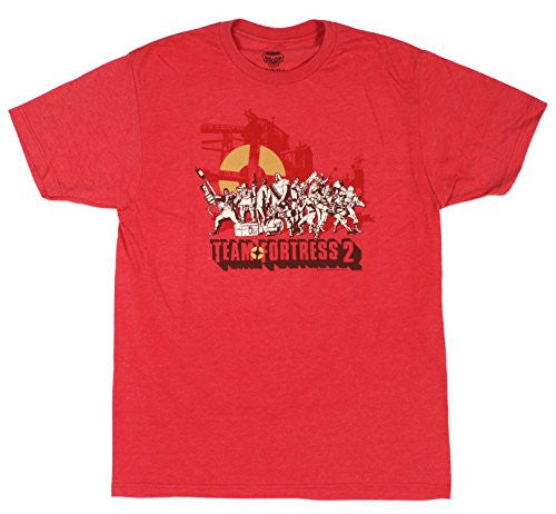Team Fortress 2 Logo Premium Tee- Heather Red, Large