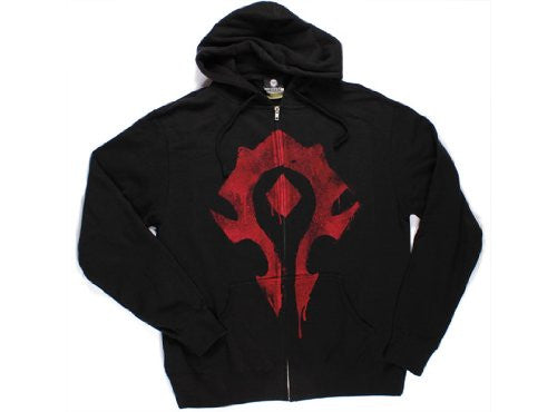 World of Warcraft Horde Spray Zip-up Hoodie- Black, 3X-Large