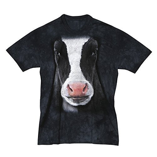 Black Cow Face, Loose Shirt - Black Adult Large