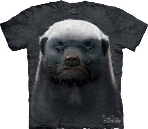 Honey Badger, Loose Shirt - Gray Adult XXX-Large
