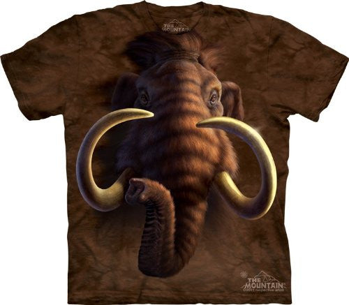 Mammoth Head, Loose Shirt - Brown Adult X-Large