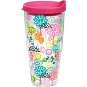 Hallmark - Peace Sign Tree Wrap with Lid 24oz Tumbler