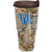 Collegiate Kentucky, University of Realtree Camo 24oz Wrap with Lid