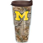 Michigan, University of Realtree Camo 24oz Wrap with Lid