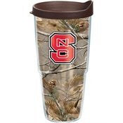 North Carolina State University - Realtree Camo 24oz Wrap with Lid