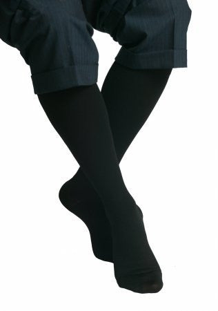Maxar Graduated Compression Unisex Dress and Travel Support Socks Size: XX-Large, Color: Black