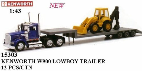 1/43 Kenworth W900 Construction Truck with Road Roller