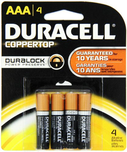 Duracell Coppertop Aaa Batteries 4 Count