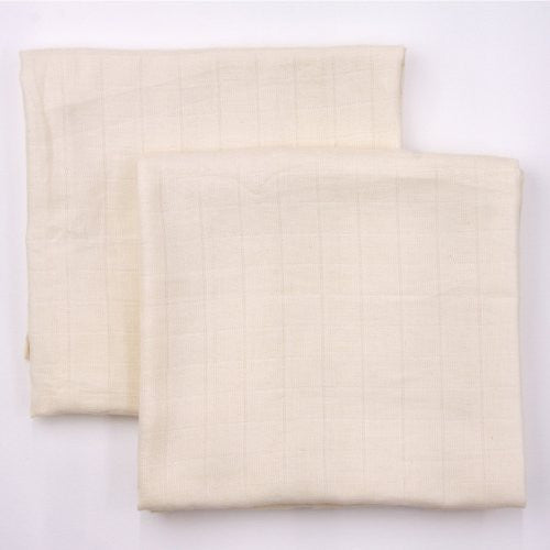 Natural - 2 pack, organic muslin swaddling blankets