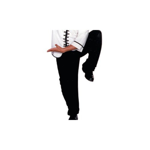 All Black Kung Fu Pants, Size 8, 260 lbs, 6'5""