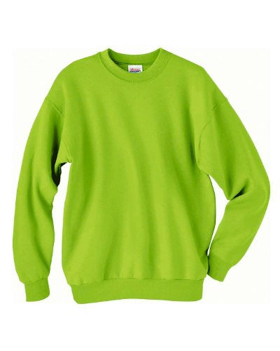 Hanes ComfortBlend Long Sleeve Fleece Crew - p160 (Safety Green / Medium)
