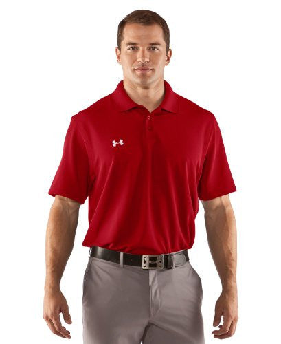 Men's Performance Golf Polo - Red, X-Large