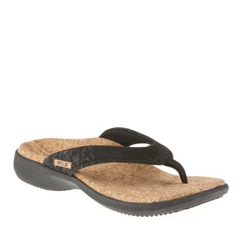 Women's Cork Flips, Coal, Size 5