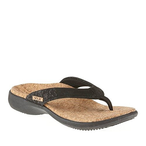 Women's Cork Flips, Coal, Size 10