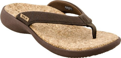 Women's Cork Flips, Bark , Size 8