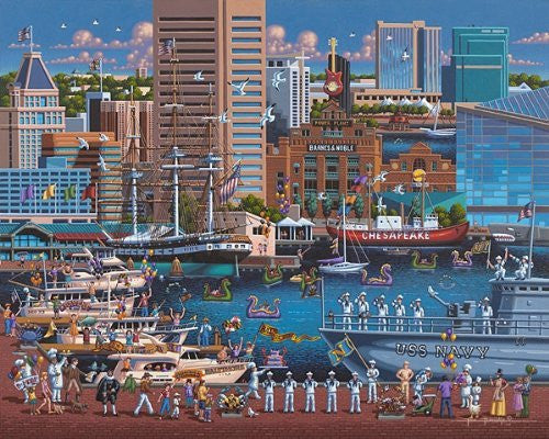 Baltimore 1000 Pieces Box Puzzles, 19x26 inch