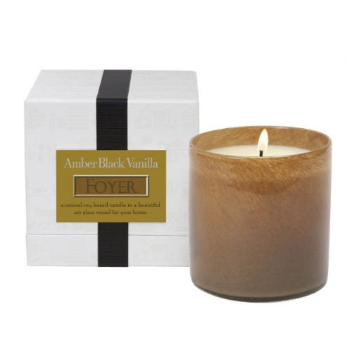 Foyer Candle - Amber Black Vanilla 16oz candle by Lafco