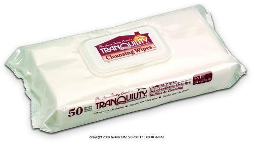 "Cleansing Wipes 50-Count Pack - 9"" x 13"""