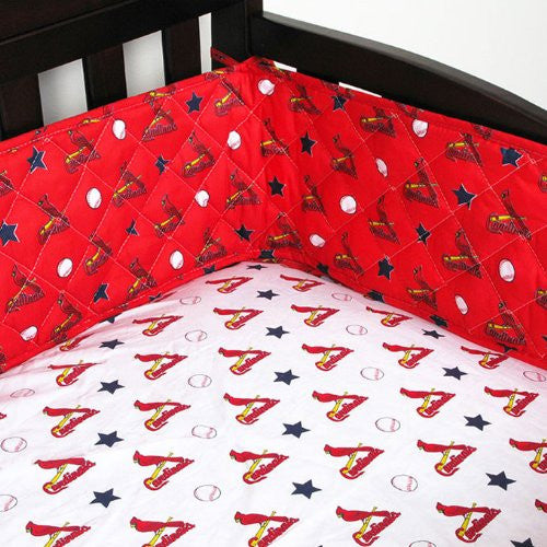 MICRO FIBER CRIB BUMPER St Louis Cardinals - Color Bright Red - Size Standard