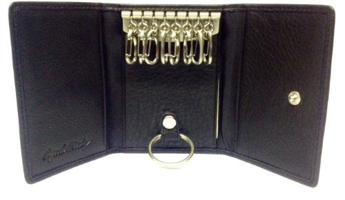 Eight Hook Snap Key Case Black