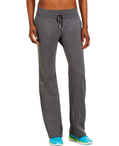 "UA Women's Fleece Storm 32"" Pant - Carbon Heather, X-Large"