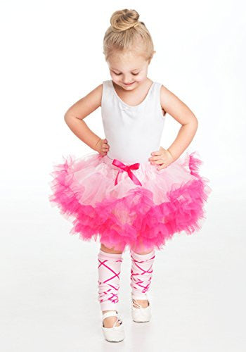 "NEW"" Tutu Pink/Hot Pink (One size - 3-8 yrs, 10"")"