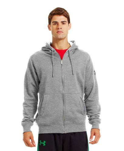 Charged Cotton Storm Full Zip Hoodie - True Gray Heather, X-Large