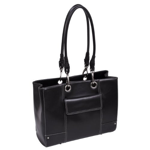 SERENA Faux Leather Ladies' Business Tote Black