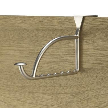 Stratford Over the Door Hanger Holder 1/Card - Satin Nickel