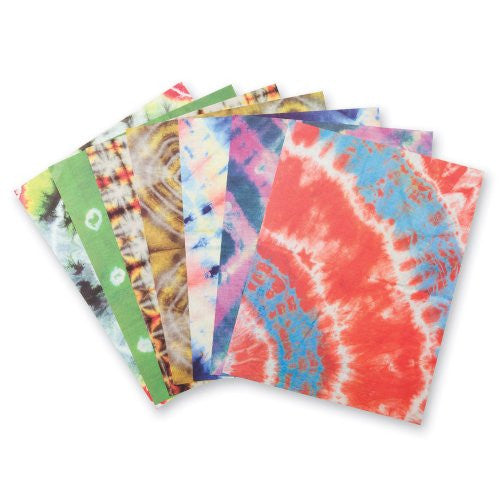 "Tie Dye Decorative Craft Paper, 8-1/2"" x 11"" (Pack of 32)"