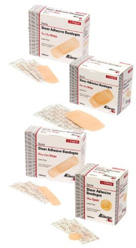 "ProAdvantage - Fabric Adhesive Bandages, 1""x3"" Strip-Box of 100"