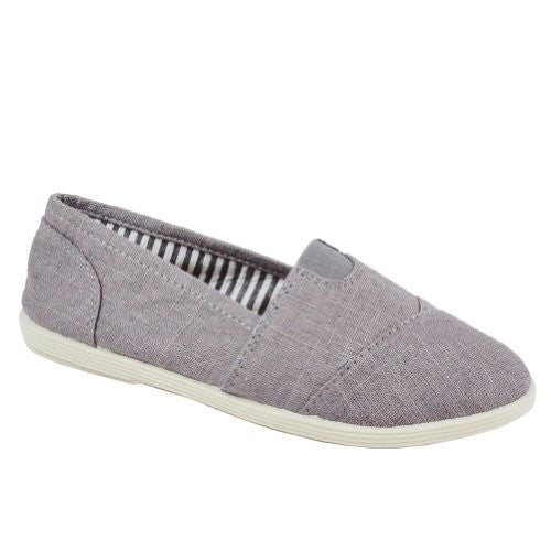 Soda Women Object Flats-Shoes,11 B(M) US,Gray Linen